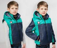 Модная демисезонная куртка-жилетка для мальчика