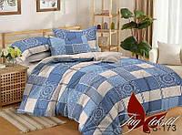 Комплект постельного белья евро с компаньоном S173 ТМ TAG Evro, постельное белье Евро