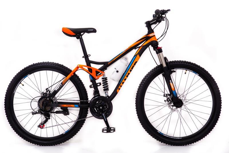 Горный велосипед на амортизации HAMMER ACTIVE 26-S211 Сборка 85% Япония Shimano Двухподвес от 160 см Оранжвевый