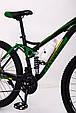 Горный велосипед на амортизации HAMMER ACTIVE 26-S211 Сборка 85% Япония Shimano Двухподвес от 160 см Зеленый, фото 8