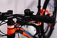 Горный велосипед на амортизации HAMMER ACTIVE 26-S211 Сборка 85% Япония Shimano Двухподвес от 160 см Оранжвевый, фото 8