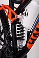 Горный велосипед на амортизации HAMMER ACTIVE 26-S211 Сборка 85% Япония Shimano Двухподвес от 160 см Оранжвевый, фото 9