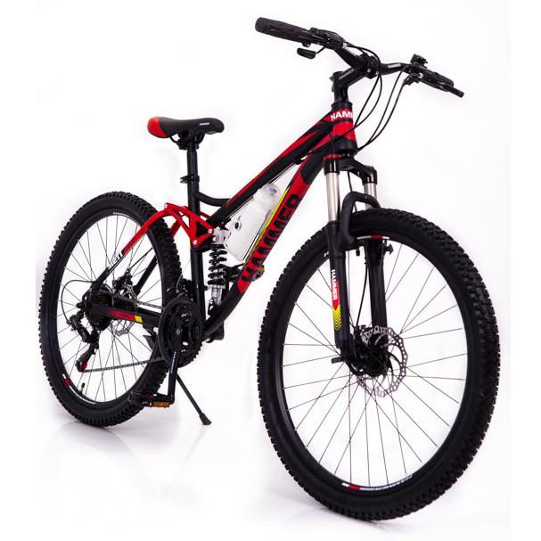 Горный велосипед на амортизации HAMMER ACTIVE 26-S211 Сборка 85% Япония Shimano Двухподвес от 160 см Красный