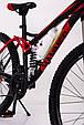 Горный велосипед на амортизации HAMMER ACTIVE 26-S211 Сборка 85% Япония Shimano Двухподвес от 160 см Красный, фото 4