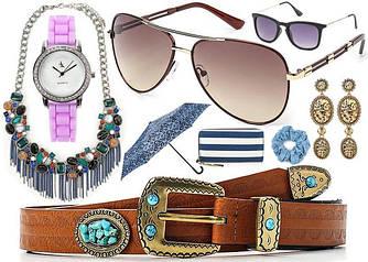 Женские аксессуары- серьги, браслеты, очки