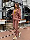 Женский теплый спортивный костюм из трехнитки с худи 63spt788, фото 2