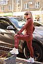 Женский спортивный трикотажный костюм с молнией на кофте 2spt787, фото 3
