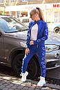 Женский спортивный трикотажный костюм с молнией на кофте 2spt787, фото 4