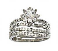 Кольцо фирмы XР. Цвет: серебряный. Камни: белый циркон.  Есть 16 р. 17 р. 17