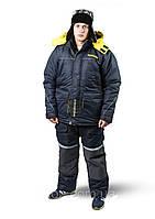 Зимний костюм для рыбалки и охоты SnowmaX синий /желтые вставки Хит 2019