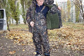 Зимний костюм Темный лес алова усиленная .-30 ,комфортный и теплый ,для рыбалки и охоты