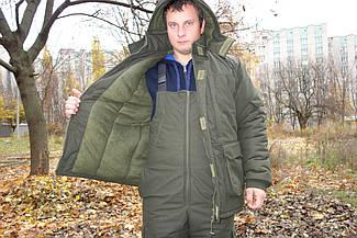 Теплый  Костюм для рыбалки и охоты  темно зеленый   ,непродувемый,непромокаемый(Новинка  2018)