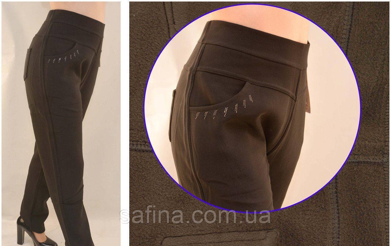 Женские брюки на меху 5XL-7XL