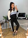 Женский спортивный костюм с худи и контрастными вставками 58spt786, фото 6