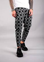 Мужские стильные брюки (серо-черные) - Турция
