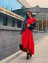 Свободное длинное асимметричное платье с оборкой 63plt216, фото 2
