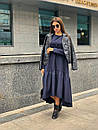 Свободное длинное асимметричное платье с оборкой 63plt216, фото 3