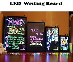 SALE! Неоновая панель LED WRITING BOARD 40*60, фото 2