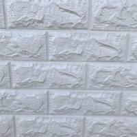 Панель стеновая 3D 700х770х7мм БЕЛЫЙ (кирпич)