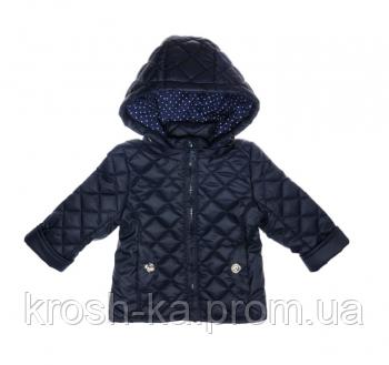 Куртка демисезонная для девочки стёганная (Гарден)Garden Baby Украина синяя 105520-45