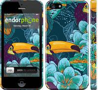 """Чехол на iPhone 5s Тропики """"2852c-21"""""""