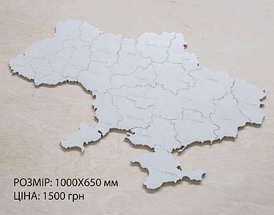 Карта Украины на стену с фанеры