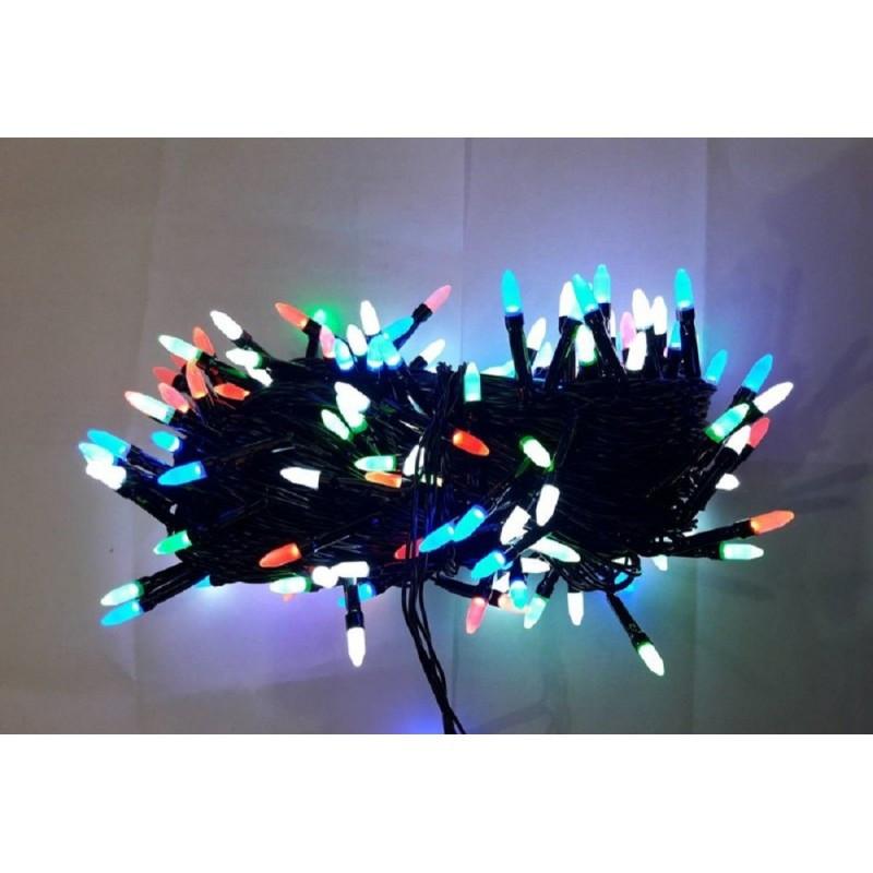 Гирлянда иголка 300 LED 23м разноцветная на черном проводе