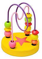 Деревянная игрушка Лабиринт желтый Fun Toys MD 0489