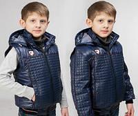 Модная демисезонная куртка-жилет  для мальчика, фото 1