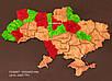 Карта Украины на стену с фанеры и мха, фото 2