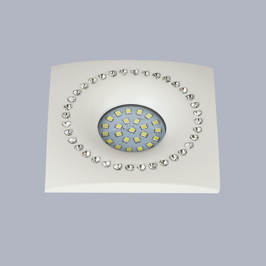 Белый светильник со стразами (10см)