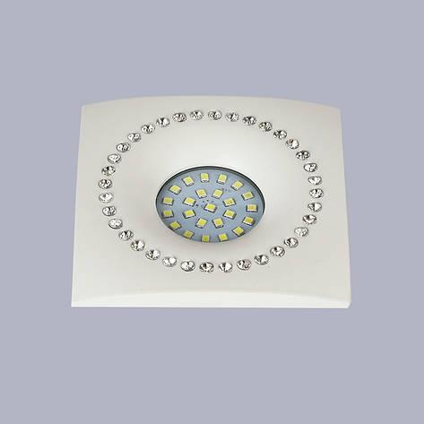 Белый светильник со стразами (10см), фото 2