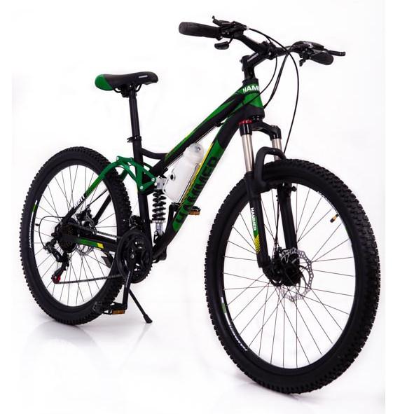 Горный велосипед на амортизации HAMMER ACTIVE 26-A211 Алюминиевая рама Сборка 85% Япония Shimano Двухподвес Зеленый