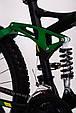 Горный велосипед на амортизации HAMMER ACTIVE 26-A211 Алюминиевая рама Сборка 85% Япония Shimano Двухподвес Зеленый, фото 6