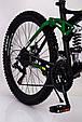 Горный велосипед на амортизации HAMMER ACTIVE 26-A211 Алюминиевая рама Сборка 85% Япония Shimano Двухподвес Зеленый, фото 9
