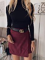 Женская стильная замшевая юбка