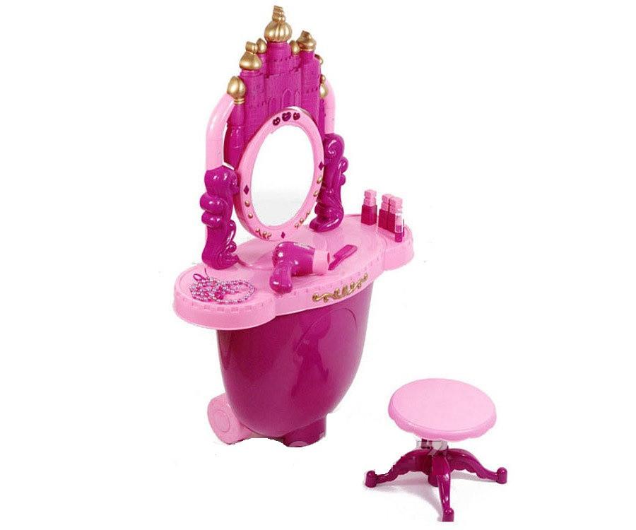 Детский туалетный столик в чемодане на колесах 008-30, трюмо