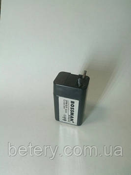 Аккумулятор Bossman 2FM0.4 ( 4V 400mAh )