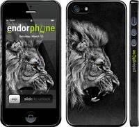 """Чехол на iPhone 5s Лев """"1080c-21"""""""