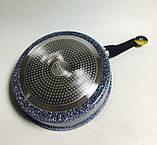 Сковорода-сотейник Edenberg EB-3323 24 см 3.0 л с крышкой и мраморным покрытием, фото 2