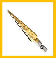 SALE! Ступенчатое шаговое сверло по металлу 4-12мм