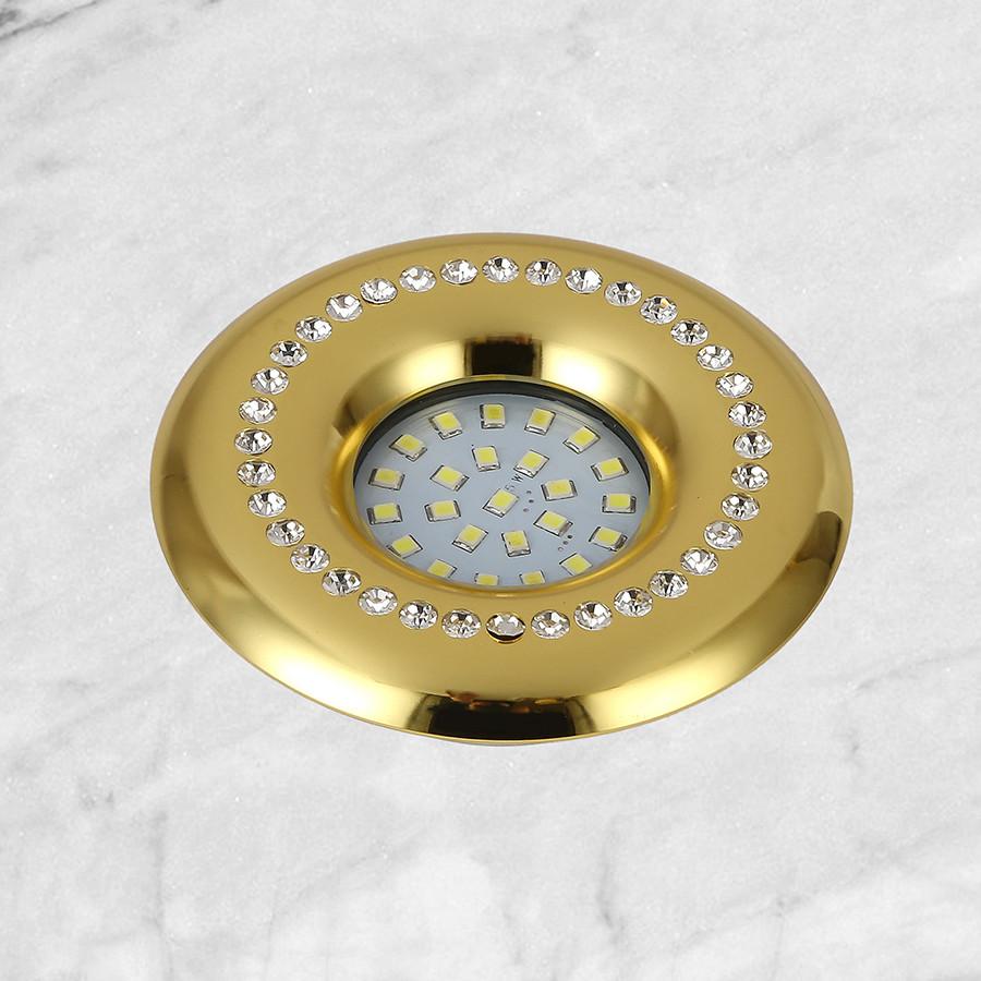 Золотой светильник со стразами (10см)