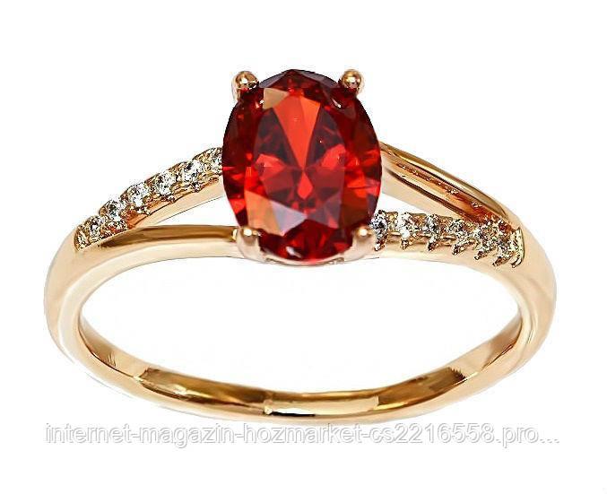 Кольцо фирмы Xuping.Цвет: позолота .Камни: белый и бордовый циркон. Есть 16р. 17р.  20р.