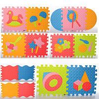 Коврик Мозаика M 6099 EVA,напольн.покрыт,1текстура,пазлы,игрушки,9 деталей, 31-31см