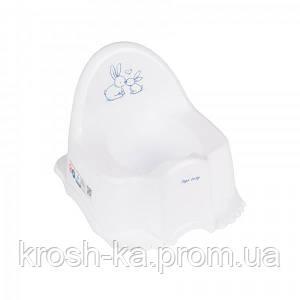 Горшок детский Кролики Tega Польша белый KR-007