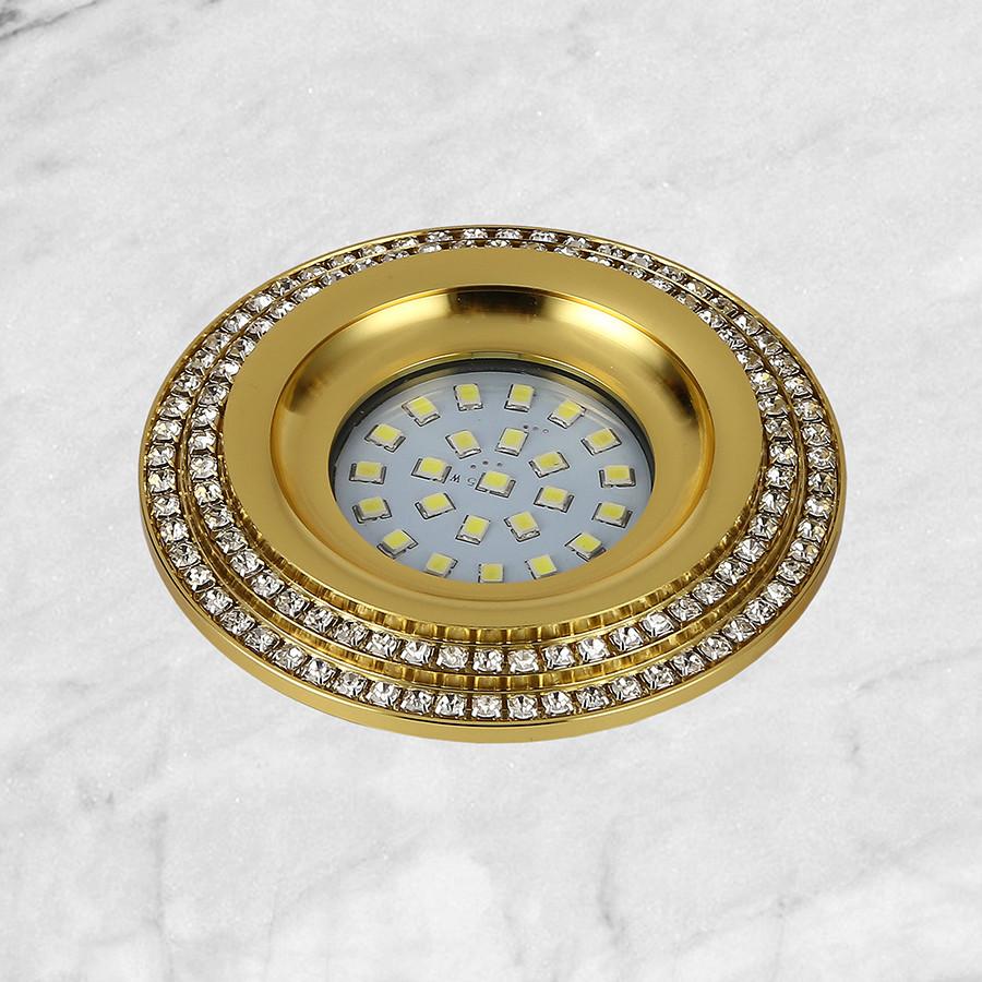 Золотой светильник со стразами (8,5см)