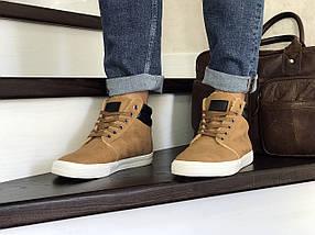 Мужские кроссовки эко кожа зима 8486, фото 2
