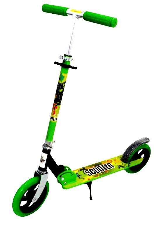 Самокат для подростков и взрослых Scooter Start (от 5 лет, до 80 кг) зелёный