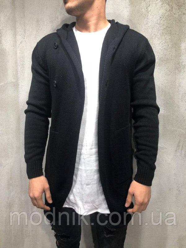 Мужской стильный кардиган (черный) - Турция