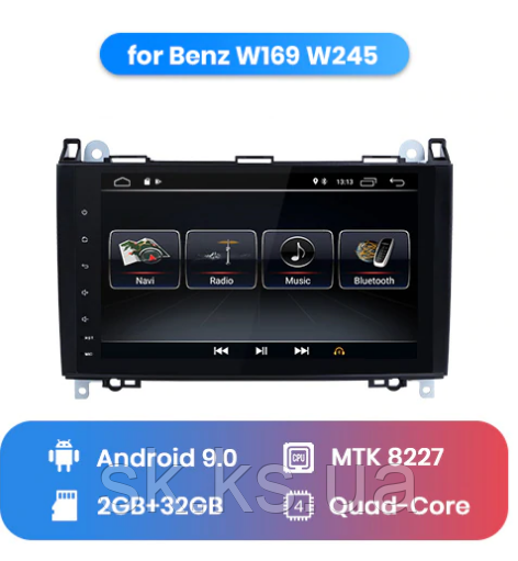 Junsun 4G Android магнитола для  Mercedes Benz Class W169 B200 W245 Sprinter W906